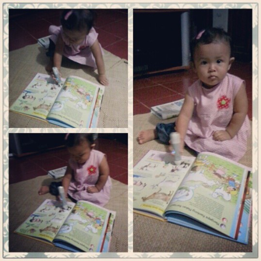 Dinda and her book